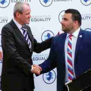 Governor Phil Murphy and GSE's Christian Fuscarino