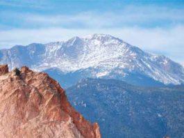 Pikes Peak in Colorado is near Colorado Springs