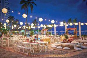 Puerto Vallarta Marriott Resort dinner outdoors