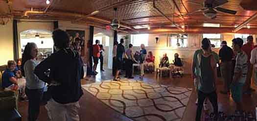 The inside of the Qspot LGBT Center in Ocean Grove, NJ