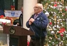 Trenton's Mayor Reed Gusciora officiated at a tree and Menorah lighting ceremony at City Hall.