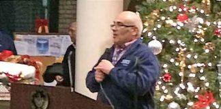 Trenton's Mayor Reed Gusciora officiated at a tree and Menorah lighting ceremony at City Hall.