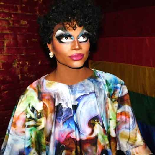 Drag performer Rhedd Rumm is also an LGBT youth advocate.