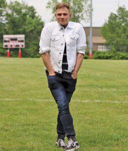 Robert Bannon on the high school field