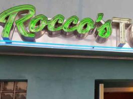 Rocco's Restaurant sign outside Photo by Ralph Malachowski