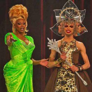 "RuPaul with ""Drag Race"" Season 11 winner Yvie Oddly"