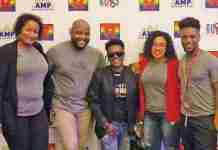 Rutgers NJMS CRC Community Engagement Team with Sharronda Love Wheeler President of Newark Pride in center.