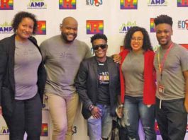 Rutgers NJMS CRC Community Engagement Team with Sharronda Love Wheeler President of Newark Pride in center.