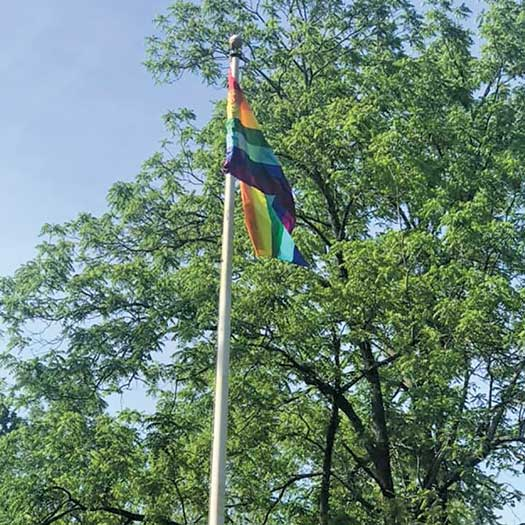 Blairstown, NJ Rainbow Pride flag raising on June 5, 2021