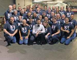 The NJGMC performed on stage with Hugh Jackman