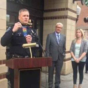 Safe Place announcement by officials in Morristown, NJ in April 2017