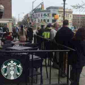 Safe Place announcement crowd in Morristown, NJ in April 2017