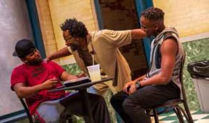 """Scene from """"Salt Pepper Ketchup"""" at Trenton's Passage Theatre"""