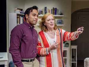 "Kurt Uy as Josh and Kate Kearney-Patch as Sarah in the production of ""Foster Mom."" Photos by Mike Peters"