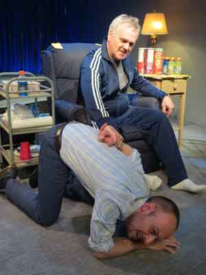 "Another scene from ""Haltime with Don"" featuring Dan McVey and Malachy Cleary in file photo by SuzAnne Barabas."