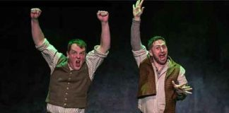 "Scene from ""Stones in his Pockets"" with Garrett Lombard and Aaron Monaghan. All photos by T. Charles Erickson"