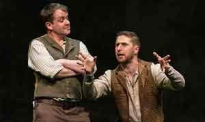 "Scene from ""Stones in his Pockets"" with Garrett Lombard and Aaron Monaghan. Photo by T. Charles Erickson"