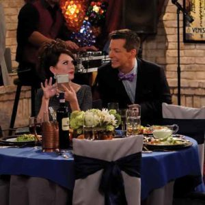 """Megan Mullally and Sean Hayes in the season 9 reboot of """"Will & Grace."""""""