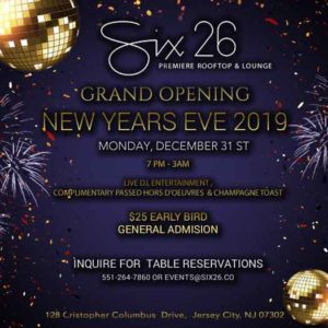 Jersey City, NJ LGBT bar Six26 is lovcated at 128 Christopher Columbus Drive