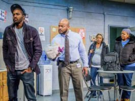 """Scene from """"Skeleton Crew"""" at the Zella Fry Theatre in Union, NJ"""