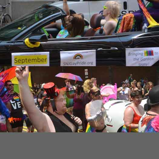 Southern NJ LGBT Pride float in the Philly Pride Parade in June 2017