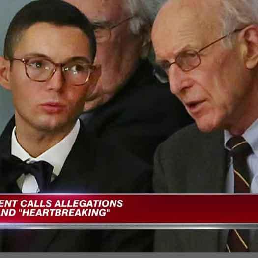 Massachusetts Democratic Senate President Stanley Rosenberg, 68, looked heartbroken, shocked and devastated during an impromptu press conference