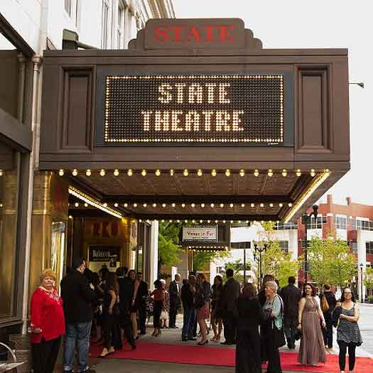 State Ttheatre in New Brunswick marque entrance