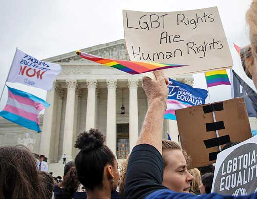 Supreme Court LGBTQ protest file photo