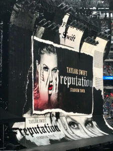 Taylor Swift concert poster