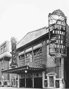 The Bijou Theatre in New York City historic photo