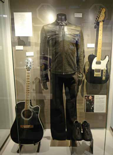 The GRAMMY Museum exhibit of Bruce Springsteen items