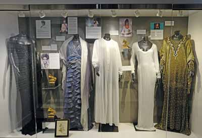 The GRAMMY Museum exhibit of Whitney Houston outfits