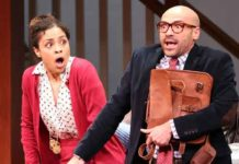 "A scene from ""The Gods of Comedy"" at McCarter Theatre."