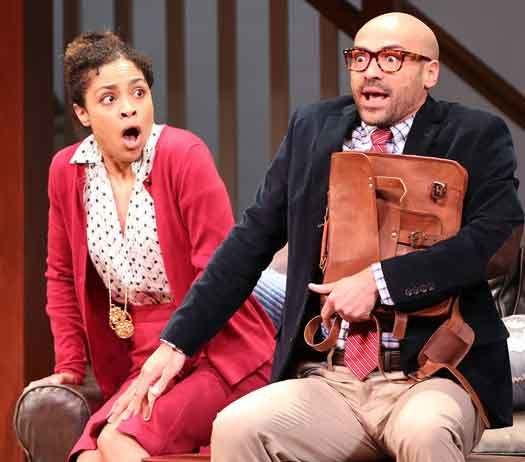 """A scene from """"The Gods of Comedy"""" at McCarter Theatre."""