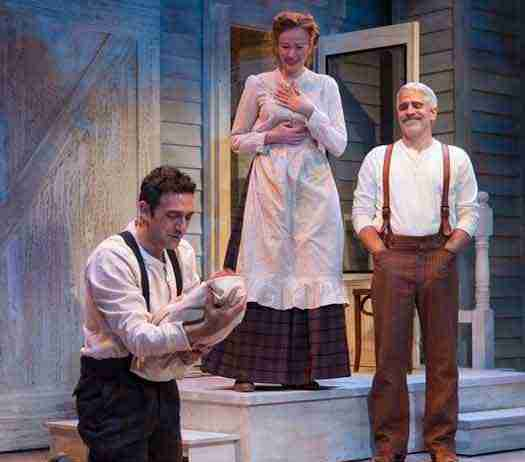 """""""The Immigrant"""" at George Street Playhouse with Benjamin Pelteson, Gretchen Hall and R. Ward Duffy. Photo by T. Charles Erickson."""