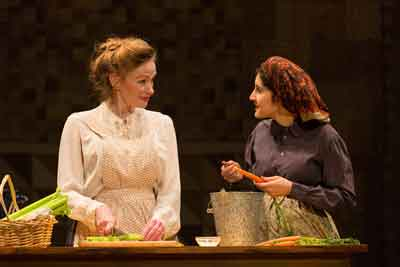 """The Immigrant"" at George Street Playhouse with Gretchen Hall and Lauriel Friedman. Photo by T. Charles Erickson."