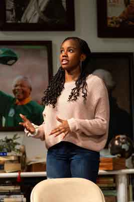 """""""The Niceties"""" at McCarter Theatre scene with Jordan Boatman. Photo by T. Charles Erickson"""