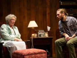 """""""Theo"""" at Two River Theater features Brenda Wehle, as Margaret, and Zachary Booth as Theo"""
