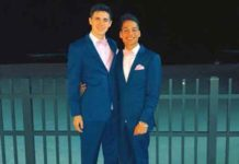 Theodore Vidal and Colin Meyers prom night in Seaside Heights in 2018