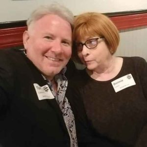 Tom Callahan and Bonnie Kantor at Networking with Style in a candid moment