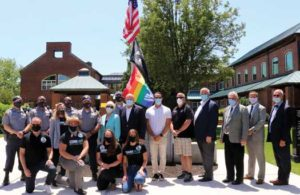 Toms River raised the LGBTQ Rainbow flag to support a virtual Pride planned for June 20, 2020 in the Ocean County Community.