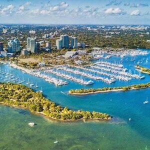 View of Boat docks in Miami