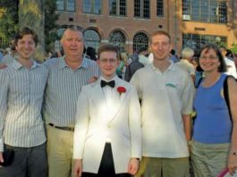 The Clementi Family on June, 23 2010. Jane on the right and Tyler in the center at HS graduation.