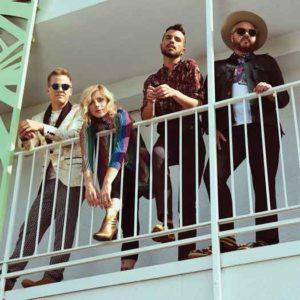 Tyler Glenn and the band Neon trees