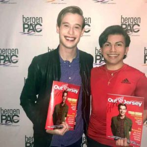 Tyler Henry with writer and editor Will Loschiavo at Bergen PAC in Englewood, NJ