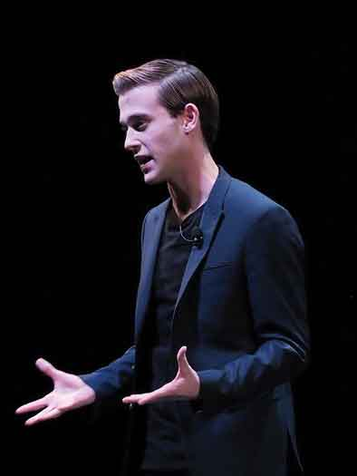 Tyler Henry on stage photo by John Cavanaugh