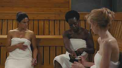 "Scene from ""Widows"" with Viola Davis."