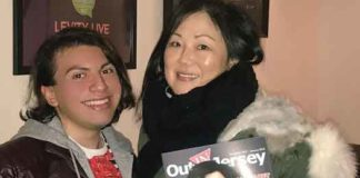 Will Loschiavo with Margaret Cho in March 2018 in W. Nyack, NY