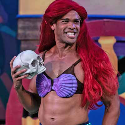 William Shakespeare's Long Lost First Play (abridged). Pictured is Ryan Woods as Ariel