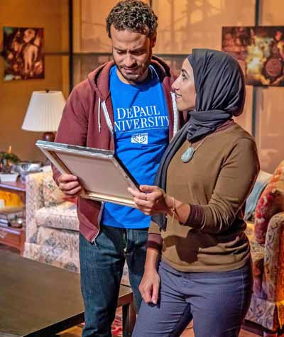 "Scene in ""Yasmina's Necklace"" at Kean Stage"